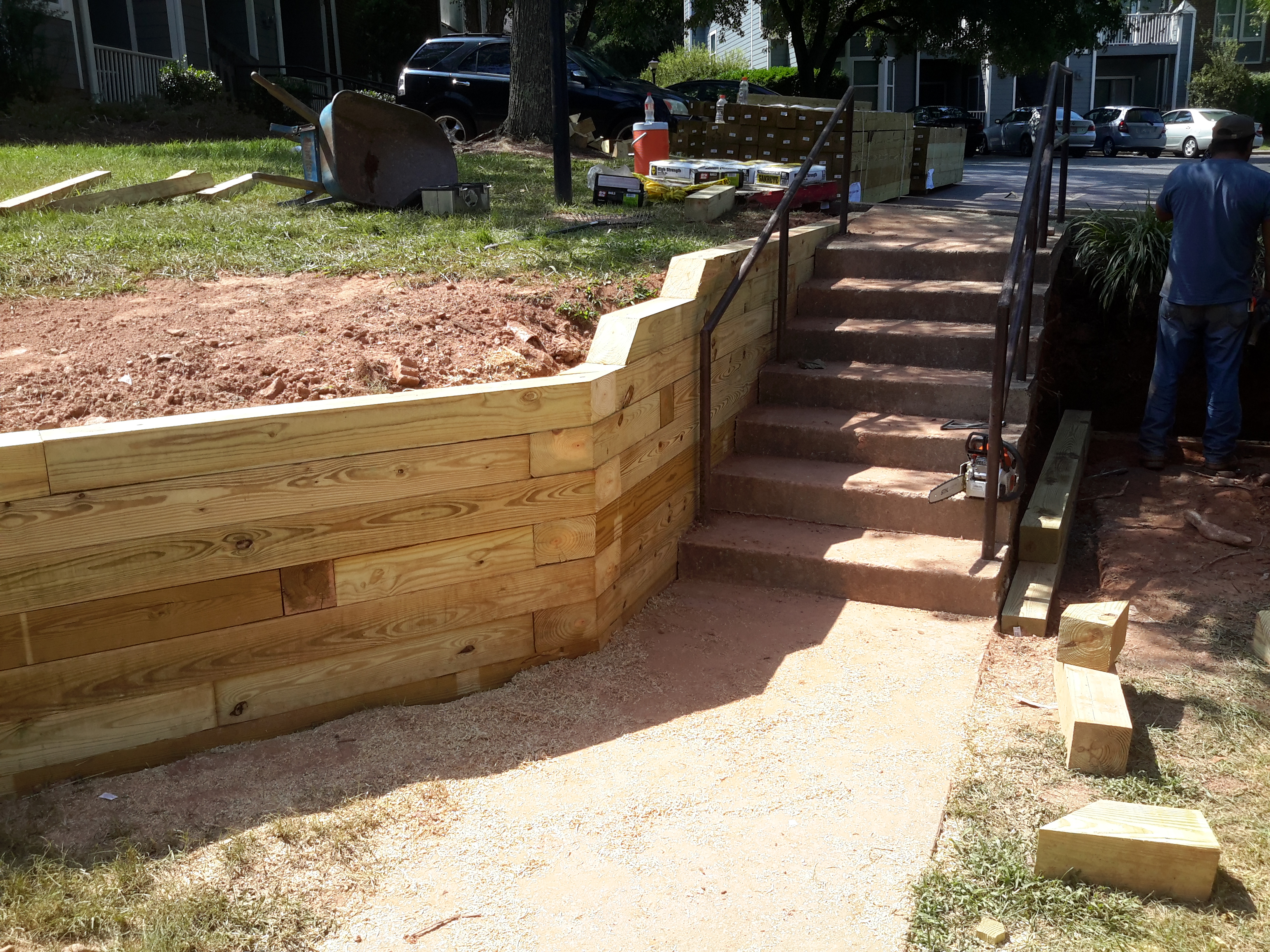 Stabilizing A Walkway With A Wooden Retaining Wall – Camden ...